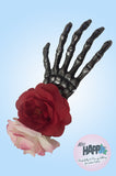 Spooky Skeleton and Rose hair clip