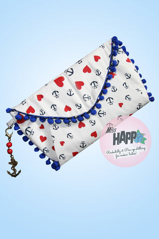 Sailor Sue envelope clutch bag