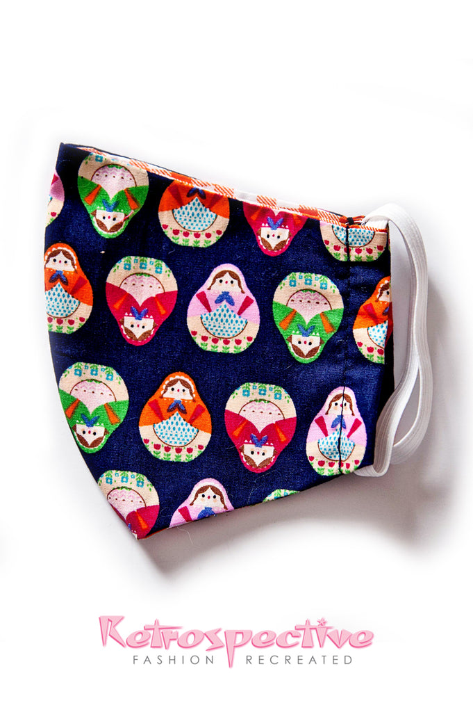 Cotton Russian Nesting Dolls Face Mask