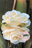 Double Pale Yellow Rose flower clip