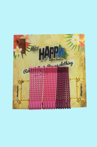 Pink Bobby Pins - 24 Pack