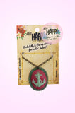 Deep Sea Anchor Cameo Neclace