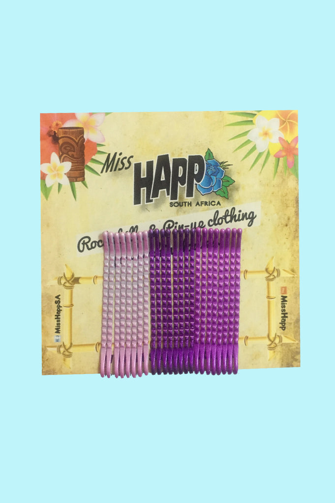 Purple Bobby Pins - 24 Pack