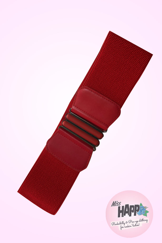 Red Wide Elasticated Belt