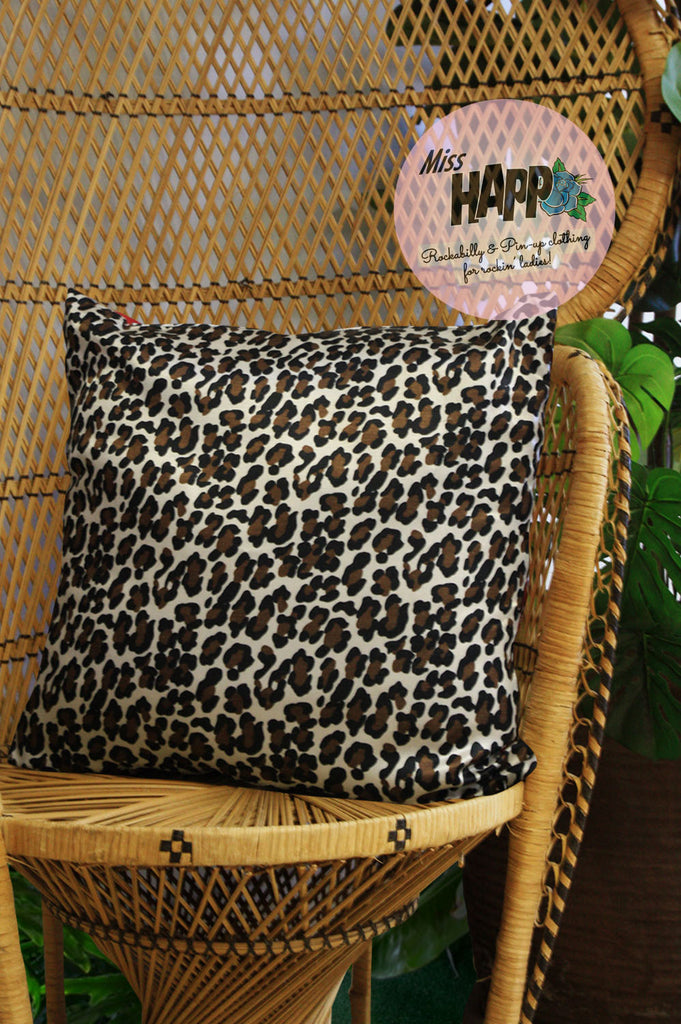 Rockabilly Leopard Cushion