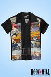 Boys Black Phils Diner Bowling shirt