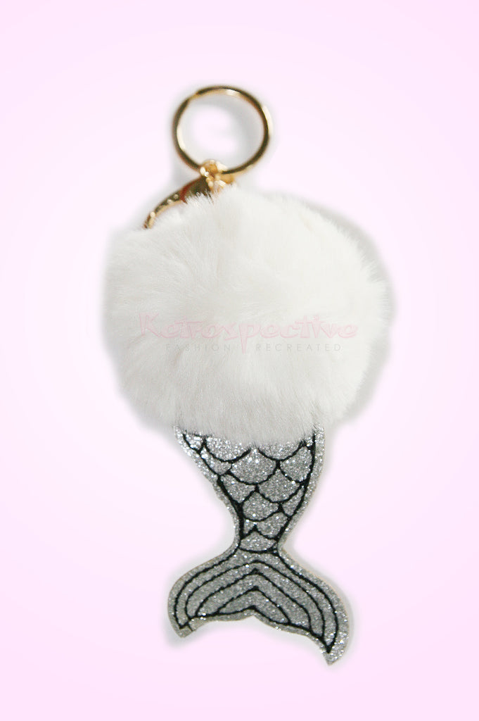 White Mermaid  Key Chain