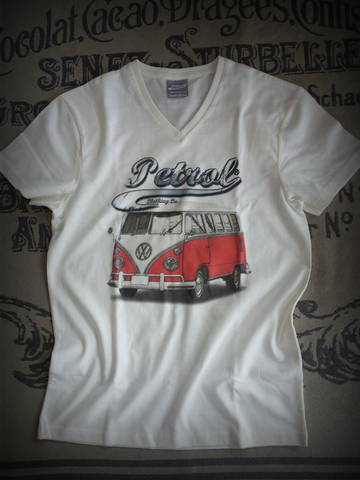 VW Splitty Kombi V-neck T