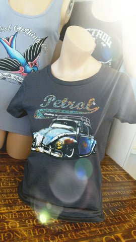 LADIES CUT VW Beetle Rusty Rod T-shirt