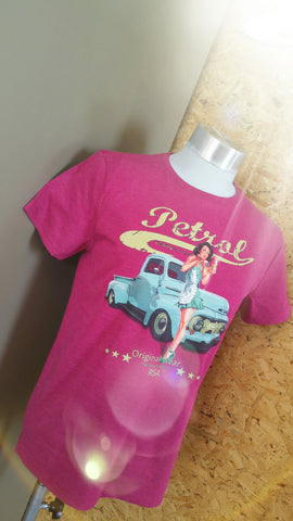 Ford Pick-up & pin-up FITTED cut T-shirt {unisex}