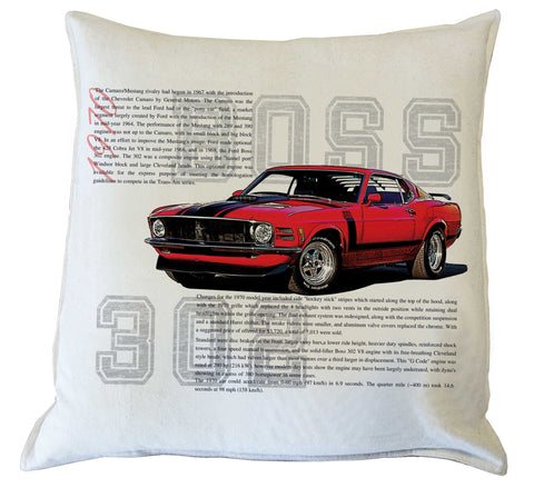 Scatter Cushion: Mustang 1970 Boss 302  history