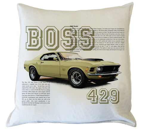 Scatter Cushion: Mustang 1969 Boss 429  history