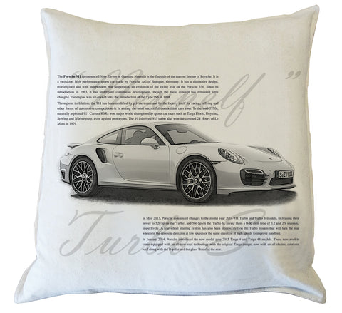Scatter Cushion : Porsche 911 history