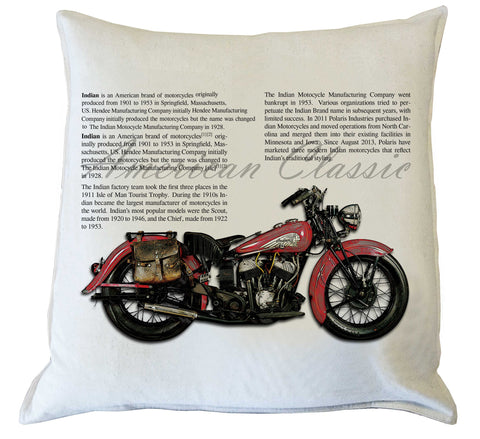 Scatter Cushion: American Classic Motorcycle I {Red}