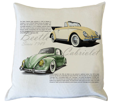 Scatter Cushion: Beetle History {vintage yellow & green}