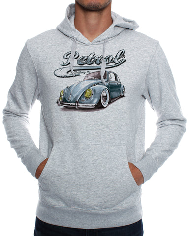 Hoodies: Blue VW Beetle