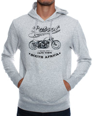 Hoodies: Bobber Sketch Motorcycle
