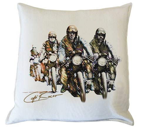Scatter Cushion: Cafe Racer Style