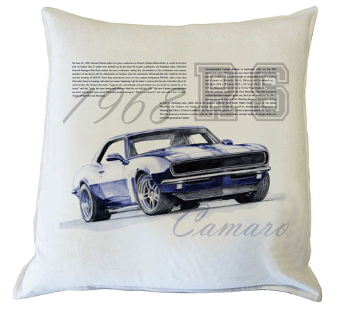 Scatter Cushion: Camaro 1968 RS - history