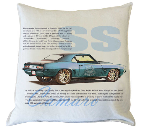 Scatter Cushion: Camaro SS history