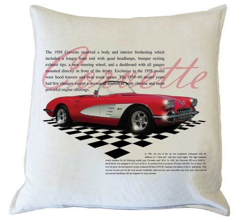 Scatter Cushion : Corvette history