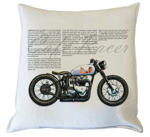 Scatter Cushion: Cafe Racer Style II