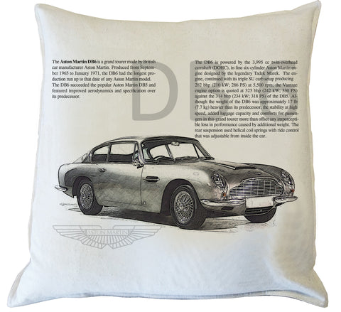 Scatter Cushion: Aston Martin DB6 history