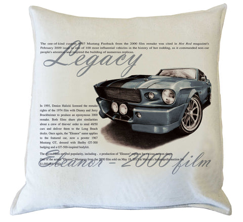 Scatter Cushion: Mustang Eleanor 2000 Film history