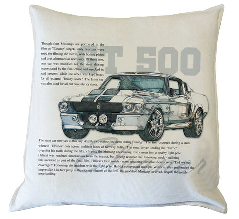 Scatter Cushion: Mustang Eleanor history