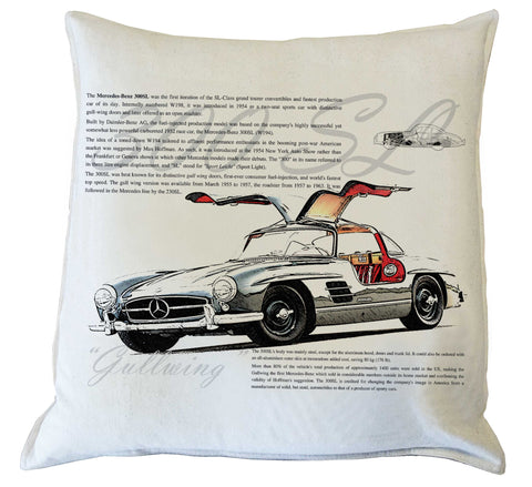 "Scatter Cushion: ""Gullwing""300 SL Option 2 - history"