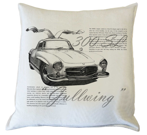 "Scatter Cushion: ""Gullwing""300 SL - history"