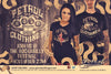 Rat Rod & pin-up Rockabilly style design -  V-neck T {unisex}