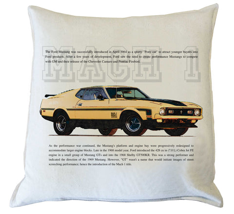 Scatter Cushion: Mustang Mach 1 - history