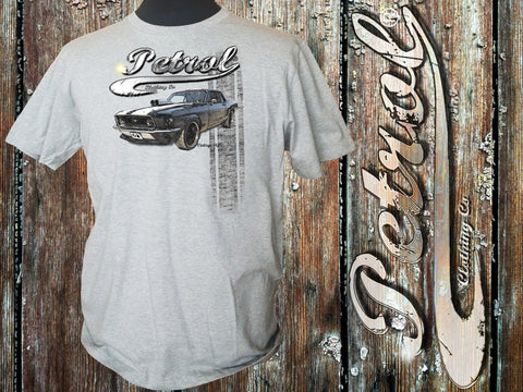Mustang GT Crew Neck T - Heather Grey