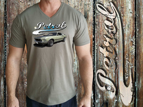 Mustang {Olive} Crew neck T-shirt