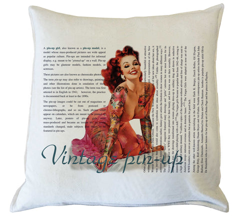 Scatter Cushion: Vintage Pin-up History