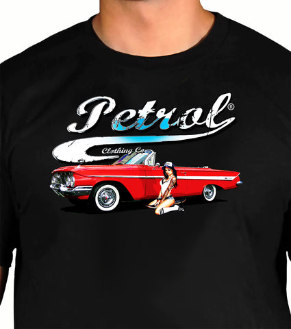 Chevy Impala & Pin Up Crew Neck T