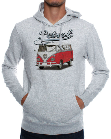 Hoodies: VW Splitty Kombi {RED}