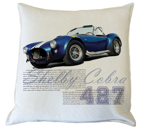Scatter Cushion: Shelby Cobra history