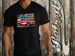 Corvette | US Flag V-Neck T {unisex}