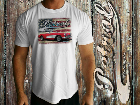 Corvette | US Flag Crew Neck T