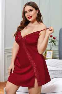Lace Trim Babydoll Dress - Sensual Attraction