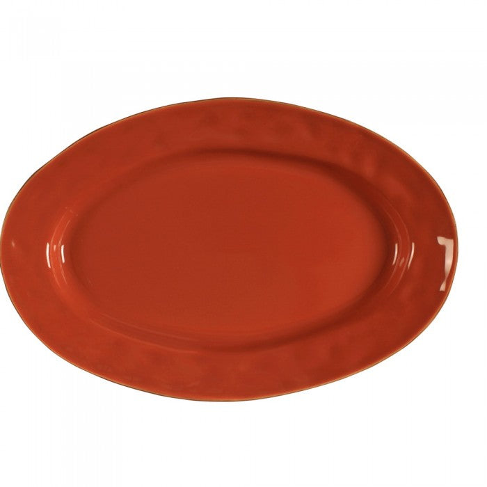 Cantaria Small Oval Platter Persimmon