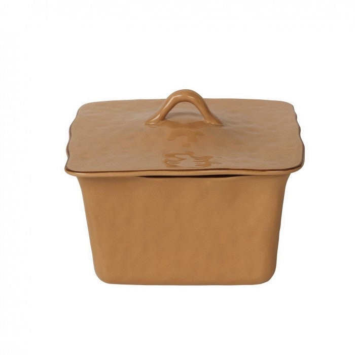 Cantaria Square Covered Casserole Caramel