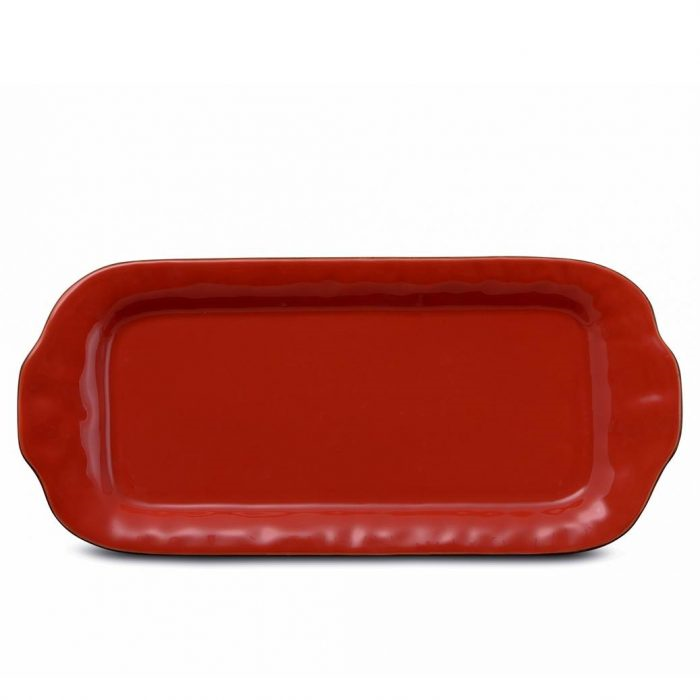 Cantaria Large Rectangular Tray Poppy Red