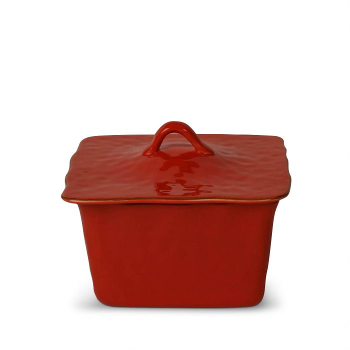 Cantaria Square Covered Casserole Poppy Red