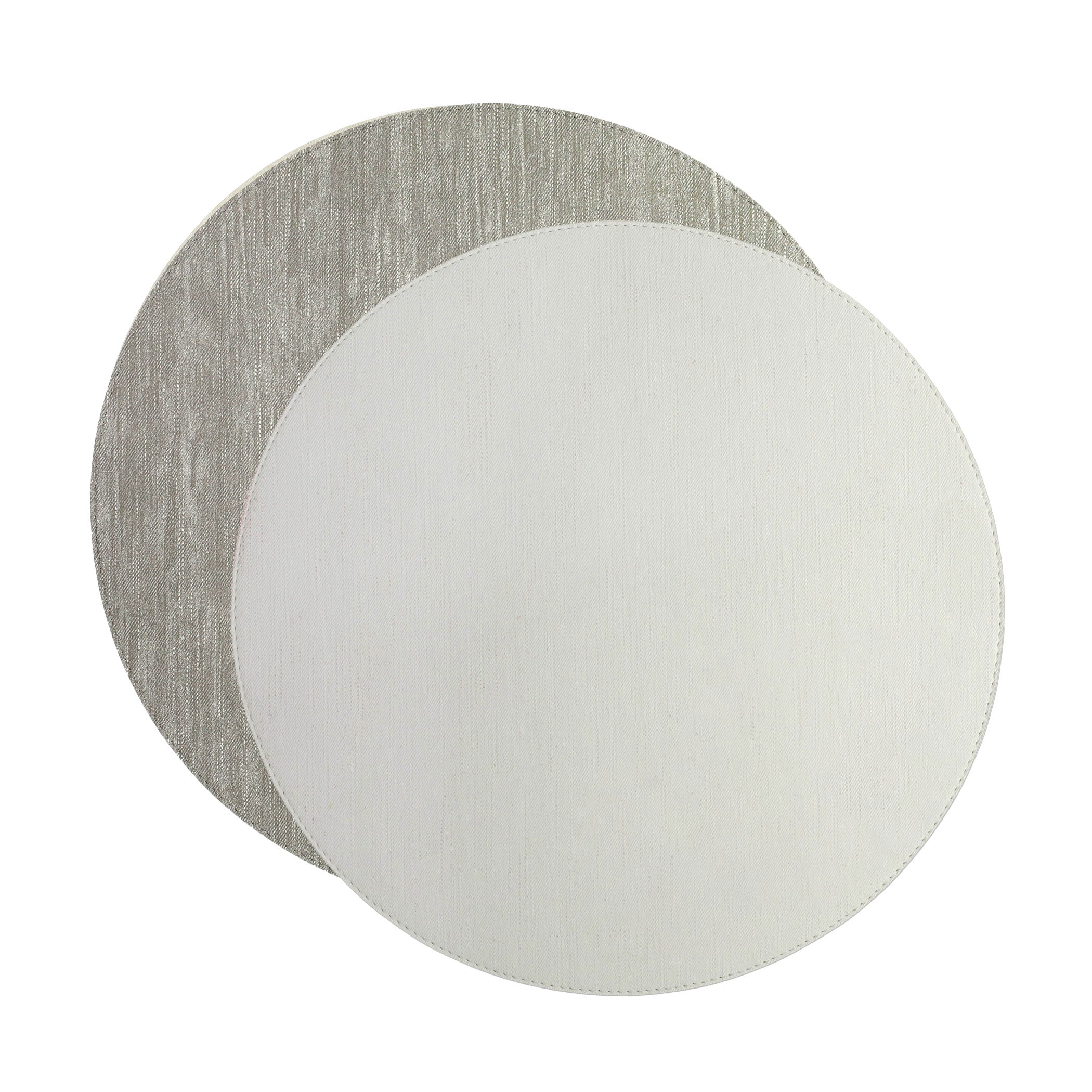 Reversible Placemats Gray/White Round Placemat