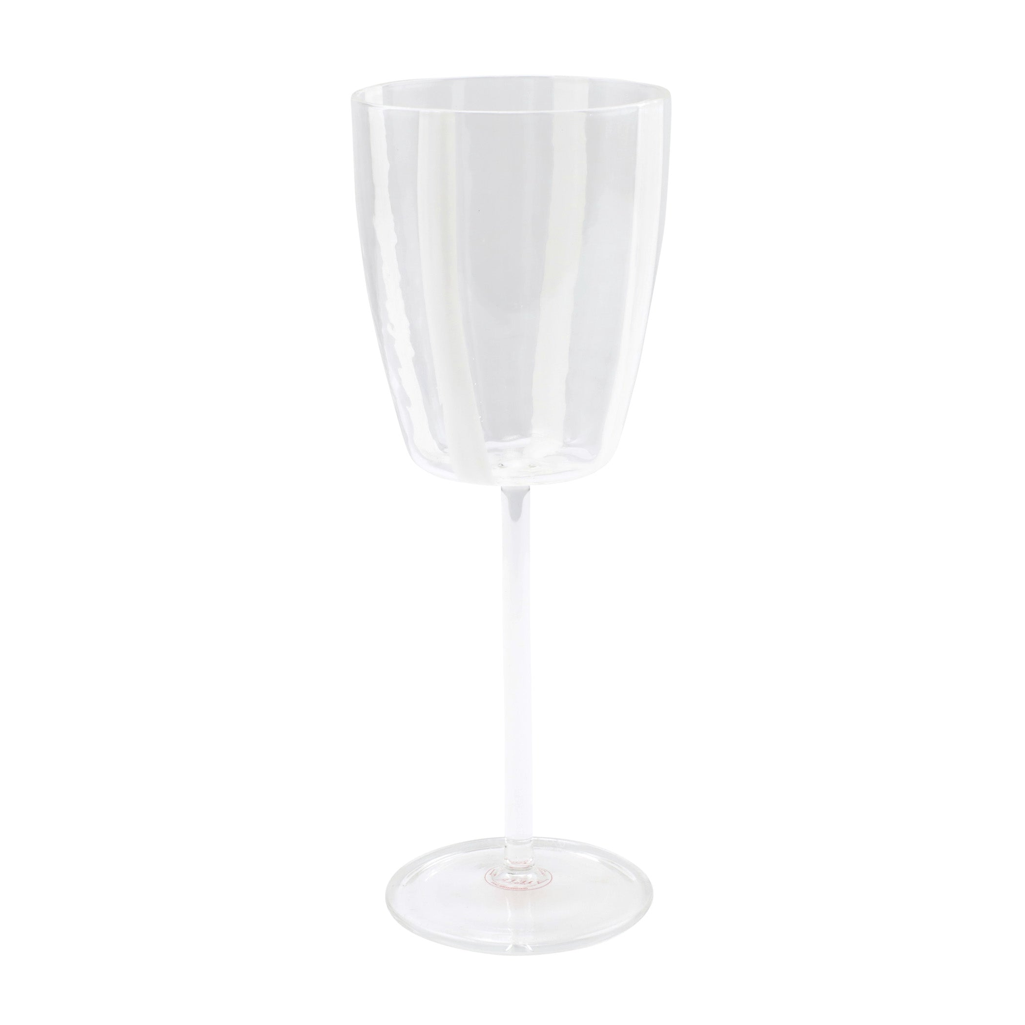 Stripe Wine Glass