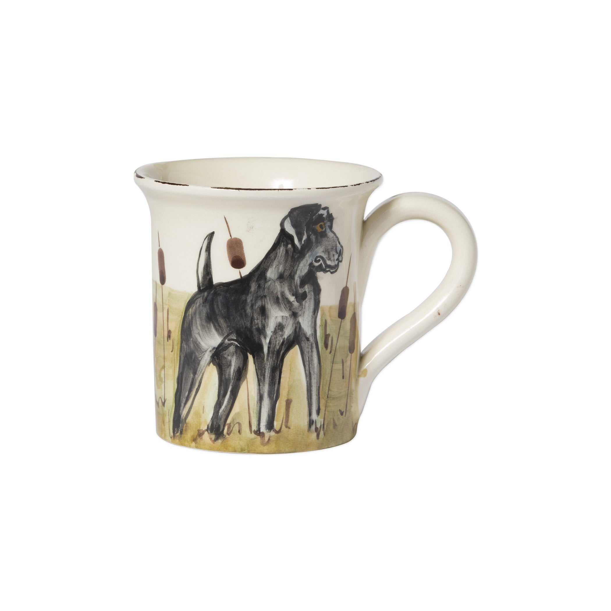 Wildlife Black Hunting Dog Mug