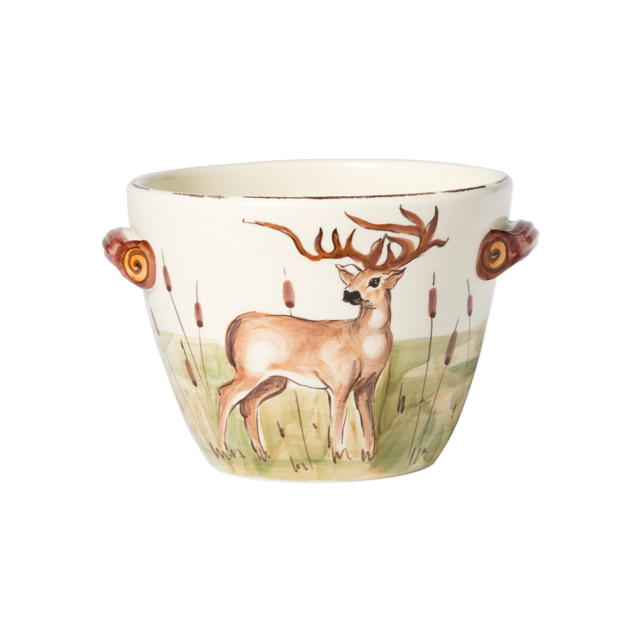 Wildlife Deer Handled Deep Serving Bowl